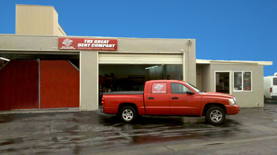dings and dents shop exterior