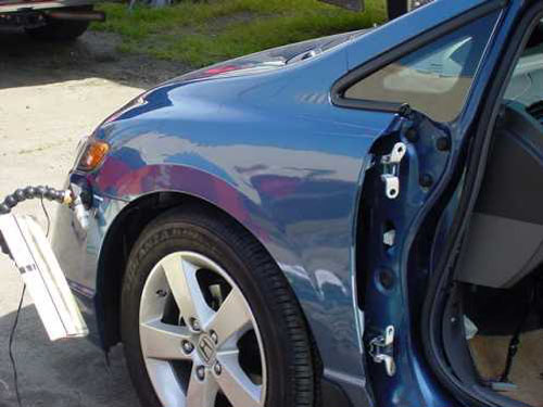blue auto body repair after