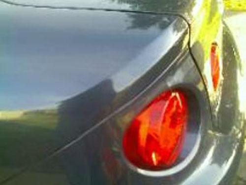 grey car auto body repair after