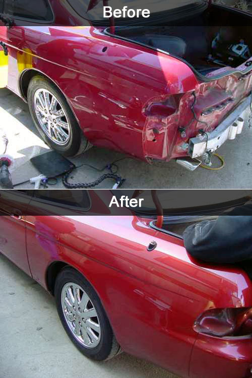 minor collision repair before and after