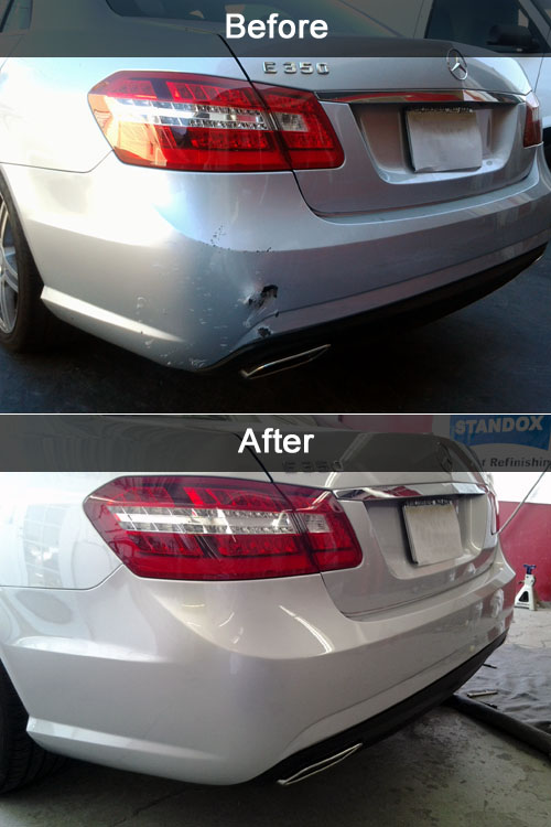 paintless dent removal before and after